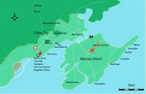 Mactan and Cebu Map